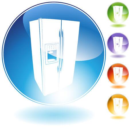 fridge: Fridge crystal isolated on a white background.