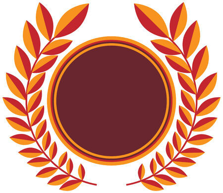 Wreath shield award isolated on a white background.