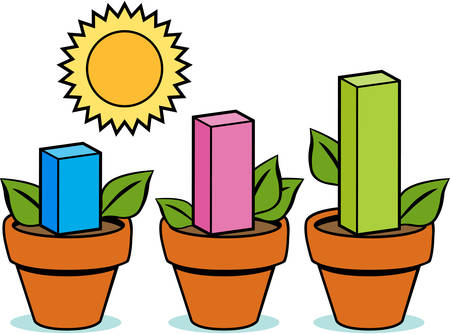 Profit plants  isolated on a white background.
