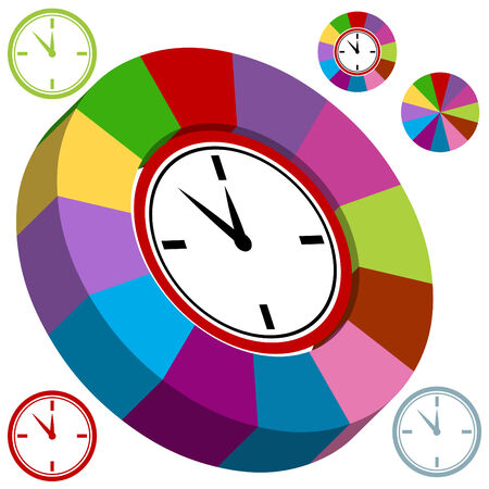 Business clock chart isolated on a white background. Stock Vector - 6469842