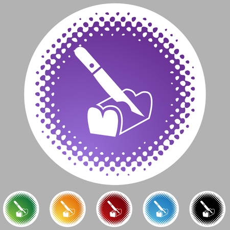 Bread slicing halftone icon set isolated on a white background. Illusztráció