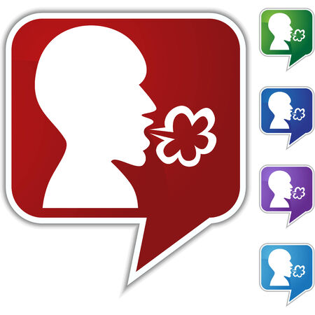 Illness speech balloon icon set isolated on a white background. Stock Vector - 6503978