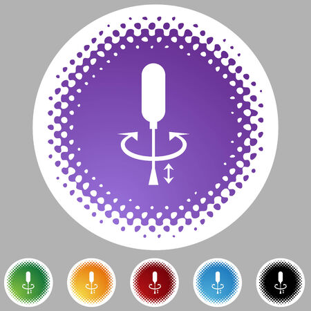 arrow icon: Screwdriver halftone icon set isolated on a white background.