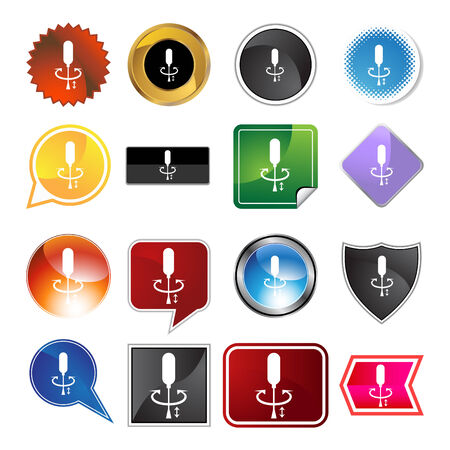turning page: Screwdriver  variety icon set isolated on white background.
