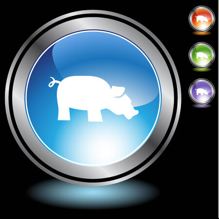 Pig icon set isolated on a white background. Stock Vector - 6503815