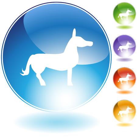 jackass: Donkey icon isolated on a white background.