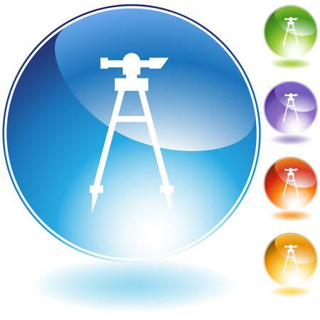 Transit Level Icon isolated on a white background.