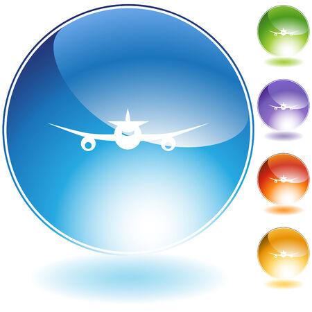 Airplane icon isolated on a white background. Stock Vector - 6554905