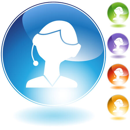service sphere support web: Customer service isolated on a white background. Illustration
