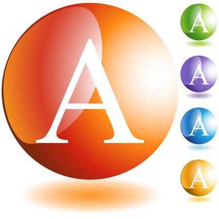 Greek fraternity symbol isolated on a white background. Ilustração