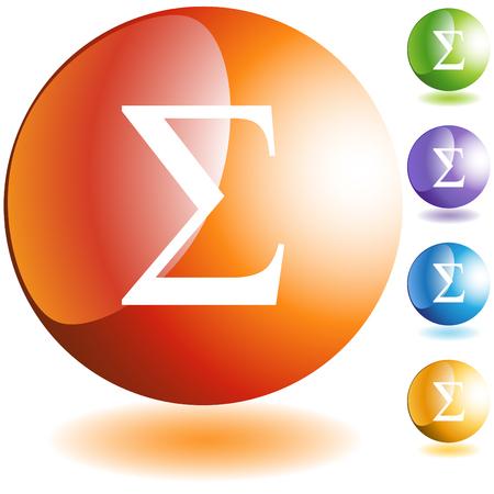 sorority: Greek fraternity symbol isolated on a white background. Illustration