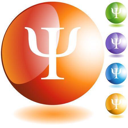 Greek fraternity symbol isolated on a white background. Illustration