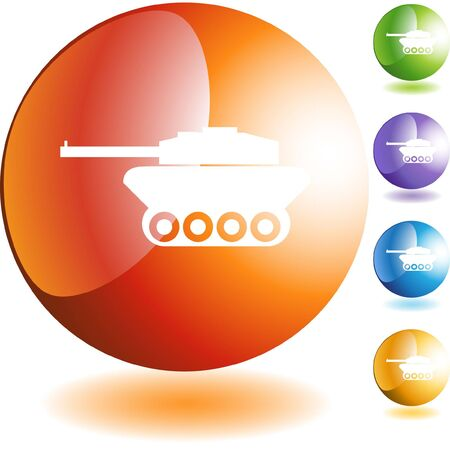 Tank icon web button isolated on a background. Stock Vector - 6590821