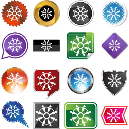 Teamwork web button isolated on a background Vector