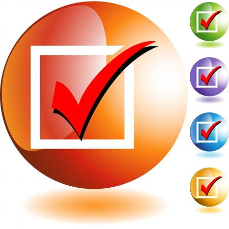 Checklist web button isolated on a background Illustration