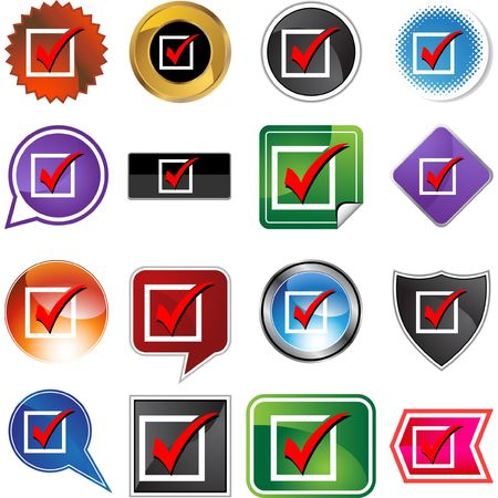 Checklist web button isolated on a background Vector