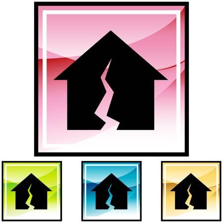 Damaged Home Illustration