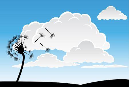 Dandelion Sky Stok Fotoğraf - 6830305