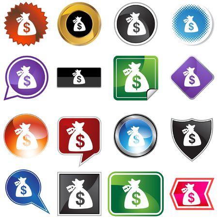 Locked Money Bag Stock Vector - 6831239