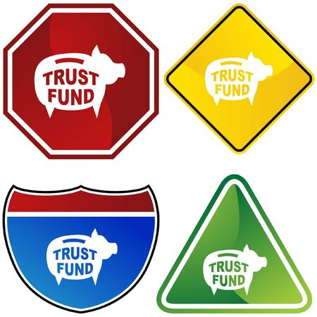 Trust Fund  イラスト・ベクター素材