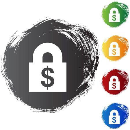 Financial Lock Vector