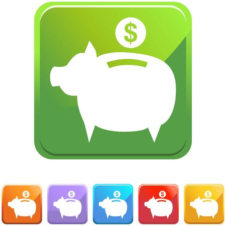 Coin Bank 向量圖像
