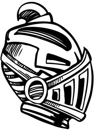 villain: Armored Mask Stock Photo