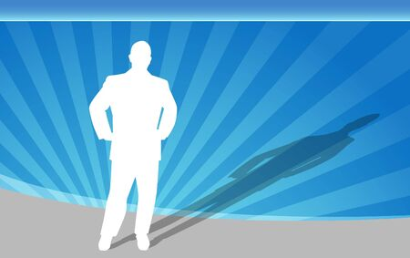 guy standing: Businessman Hands on Hips Stock Photo