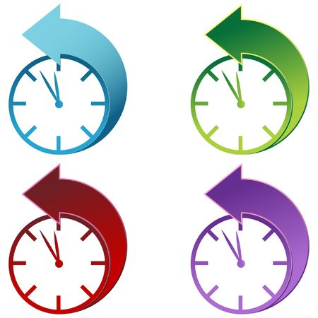 Daylight Savings Time Clock  Stock Photo - 7051793