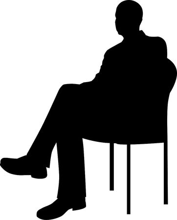 Businessman Sitting Silhouette photo