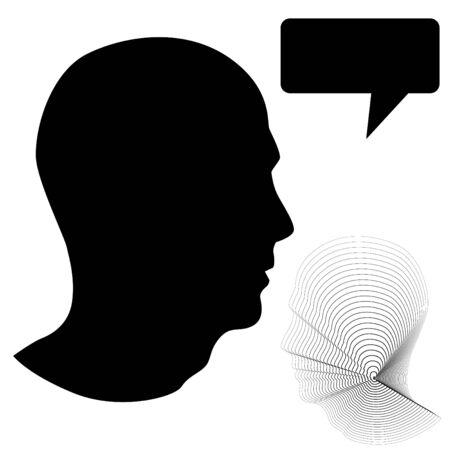 Male Head Profile 版權商用圖片