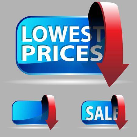 low price: Prezzo basso  Archivio Fotografico