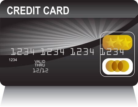 Credit Card Black Gold photo