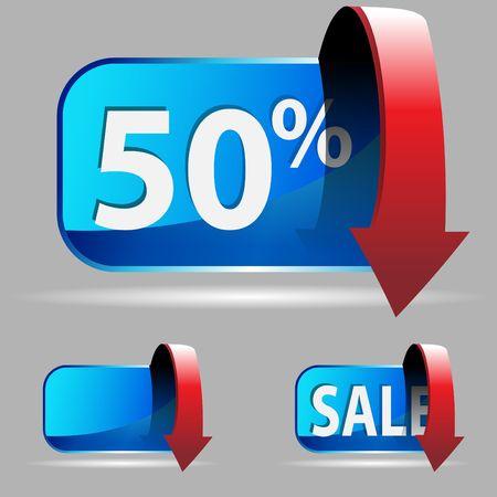 Discount Button Stock fotó