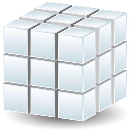Cubos geom�tricos  Foto de archivo - 7087061
