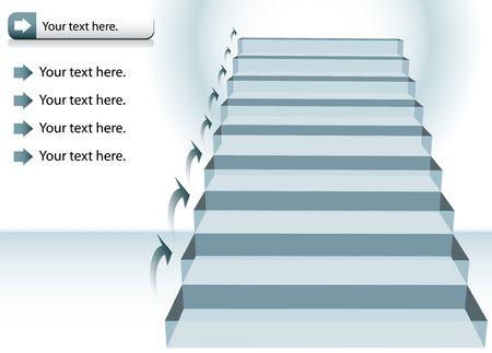 Staircase Chart Stock fotó - 7102167
