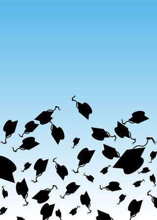 Graduation Hat Toss Reklamní fotografie