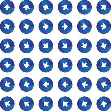 Arrow Icon Set Banco de Imagens - 7144569