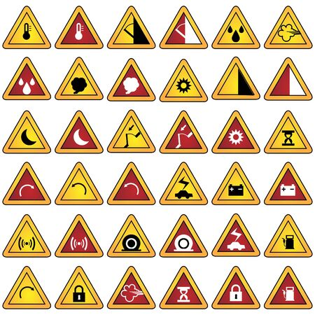 Warning Sign Set photo