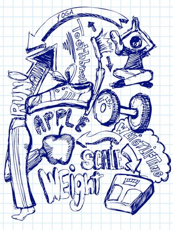 Health Doodle Stock Photo - 7202825