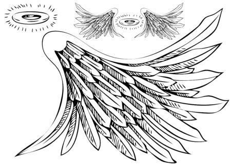 Angel Wing Halo Set 版權商用圖片
