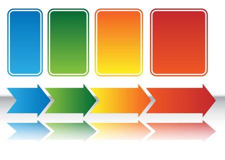Wärme-Karte-Arrow-Diagramm  Standard-Bild - 7229246