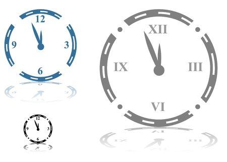Roman Numeral Clock Фото со стока