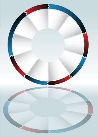 Puzzle Wheel Diagram photo