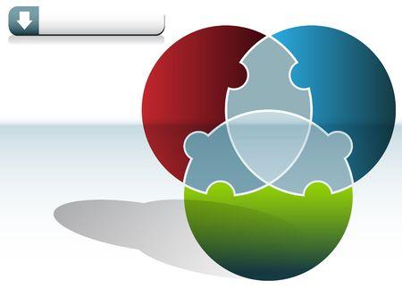 Kreis-Puzzle-Diagramm Standard-Bild - 7229339