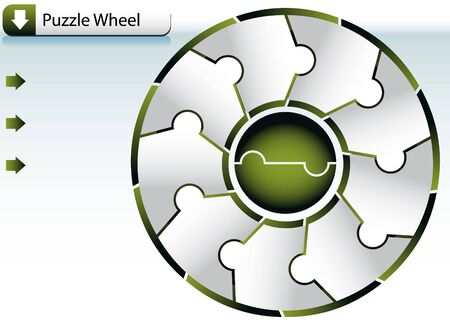 Puzzle Wheel Chart