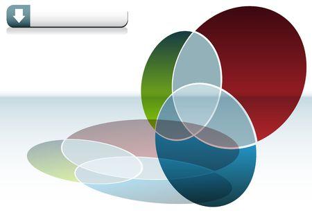 venn: Venn Chart Stock Photo