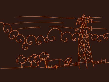 電力線の風景