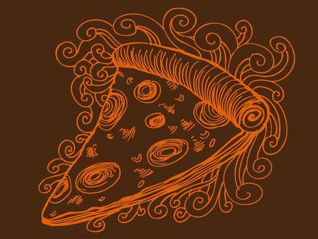 Dibujo de Pizza  Foto de archivo - 7267227