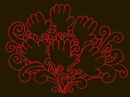 Swirl Hands 版權商用圖片